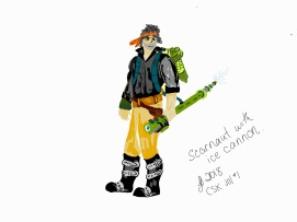 CSK book illustrations - scarnaut with ice cannon