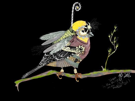 CSK book illustrations - mechanical bird