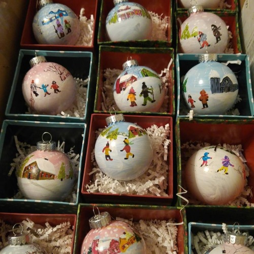 Hand painted ornaments for CSKpartners