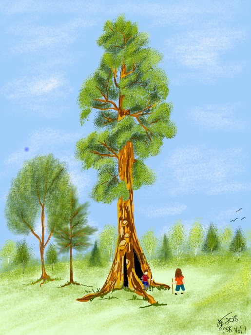 CSK book illustrations - The Giant Redwood
