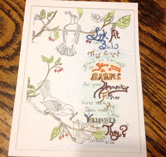 Coloring page - birds of the air